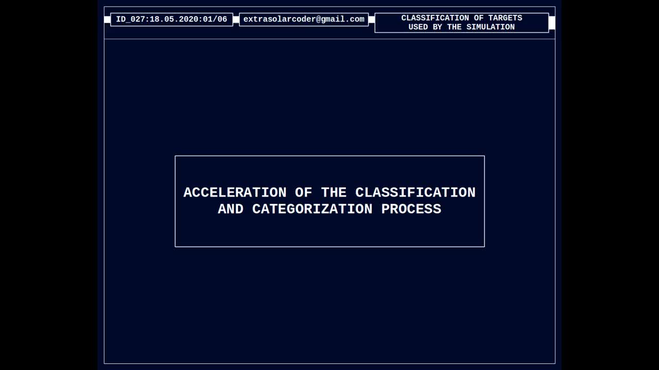 Acceleration Of The Classification And Categorization Process