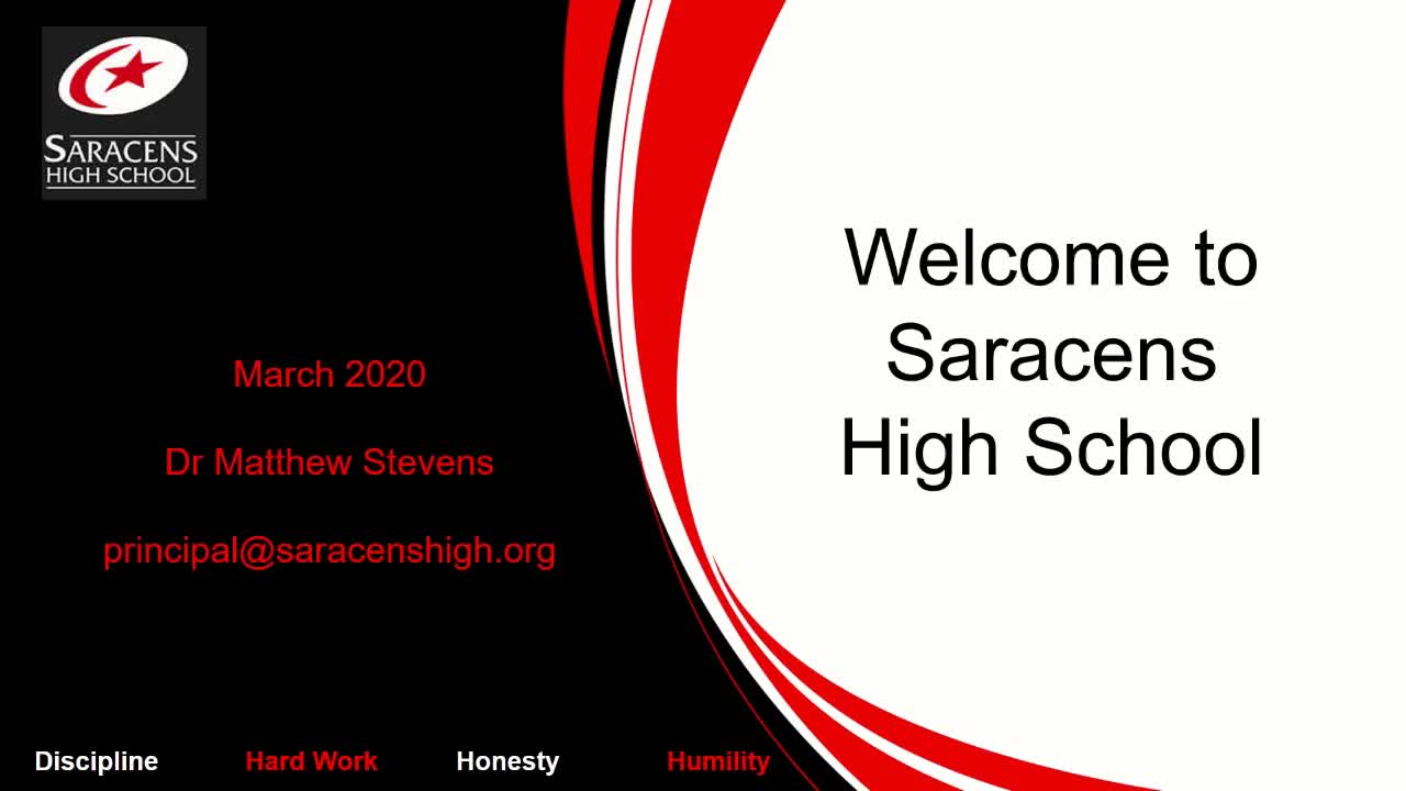 Welcome to Saracens High School