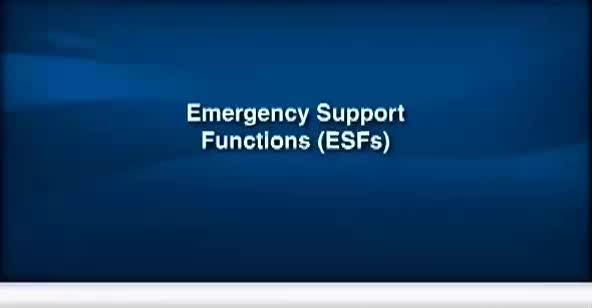 FEMA Emergency Support Functions