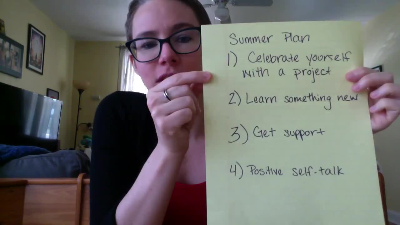 Self-Esteem: End of year recap and summer plan