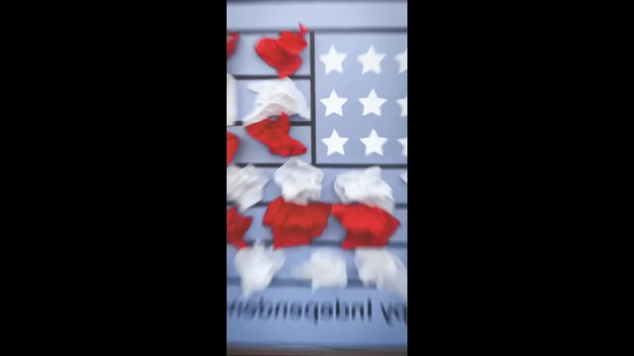 Tissue Paper American Flag Craft