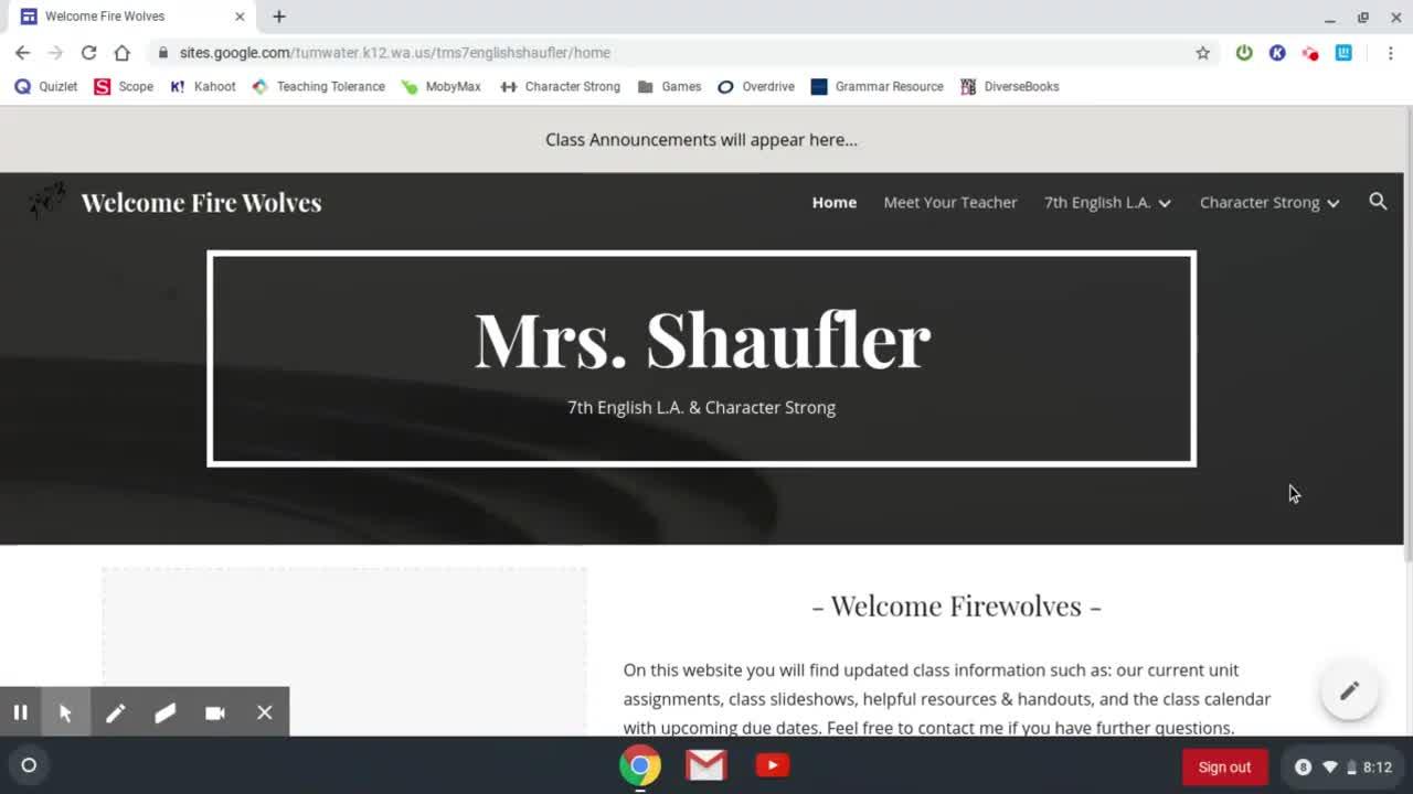 Class Website Tour