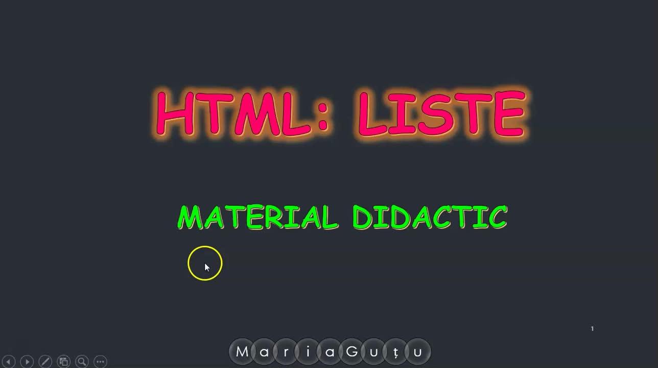HTML Liste