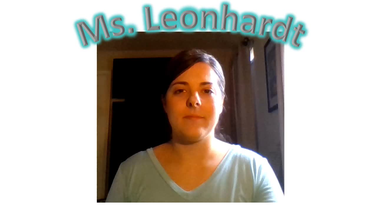 Ms. Leonhardt Welcome