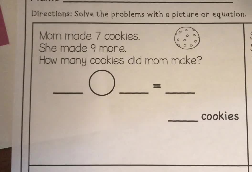 Envision Topic 1, Day 6 Word Problem 1