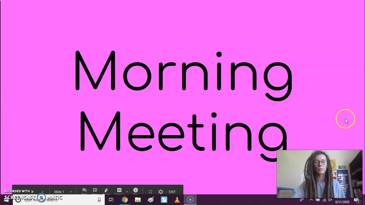 9/1 Morning Meeting