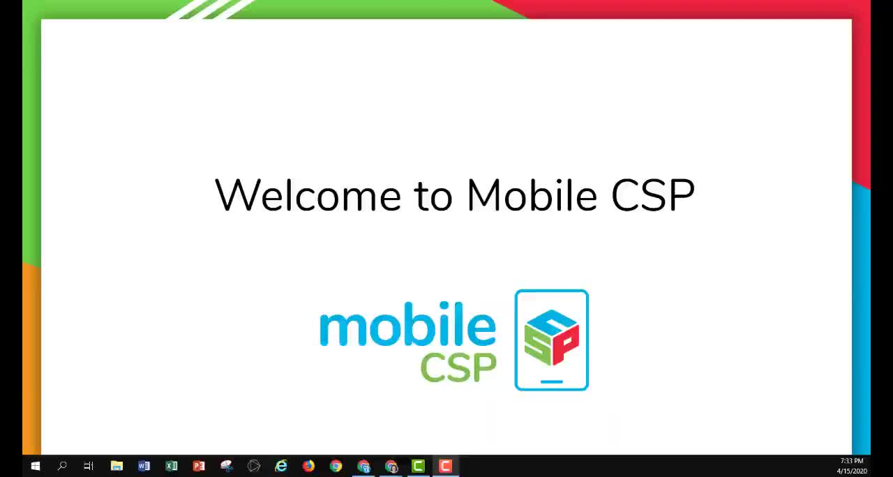 Welcome to Mobile CSP 2020