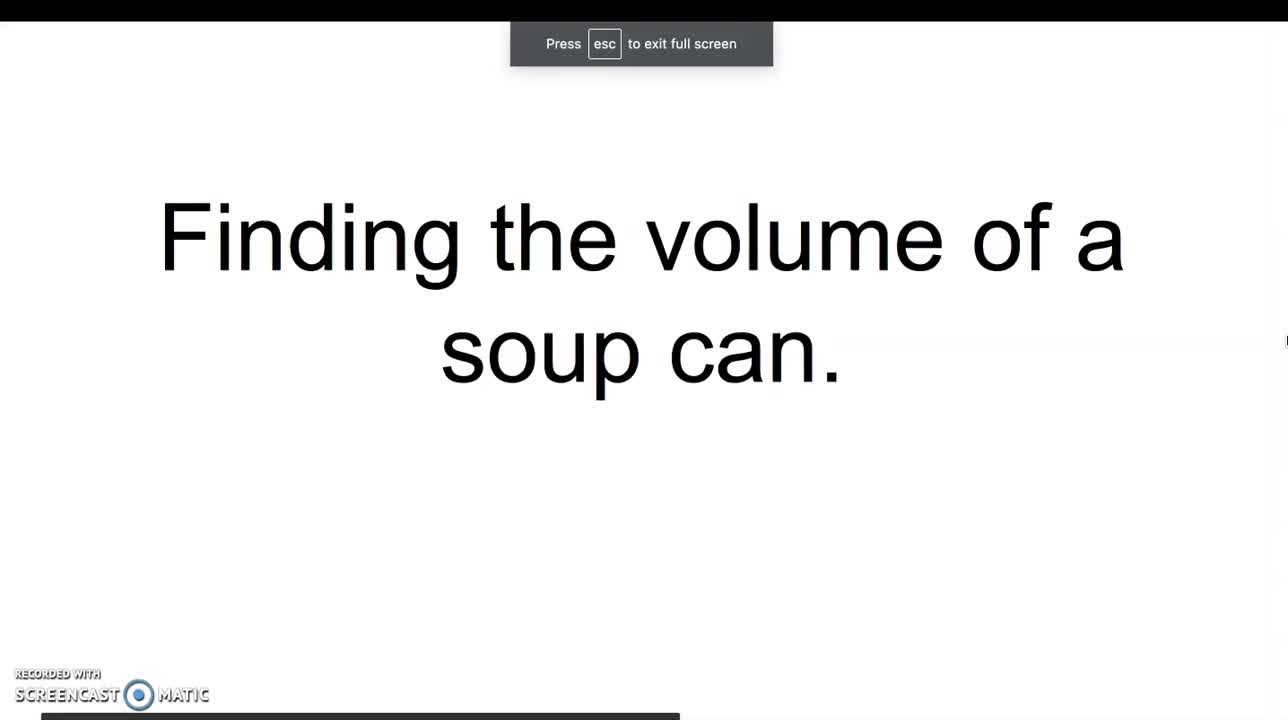 Volume of a Cylinder example for TDT1 Task 3 Multimedia