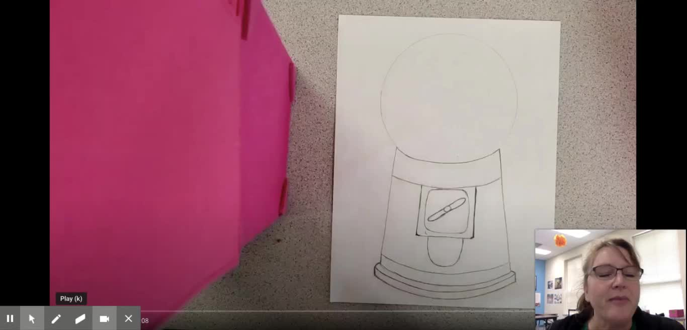 Gum Ball Machine Drawing