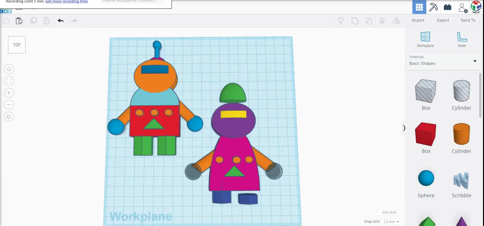 Mistakes Bot on Tinkercad