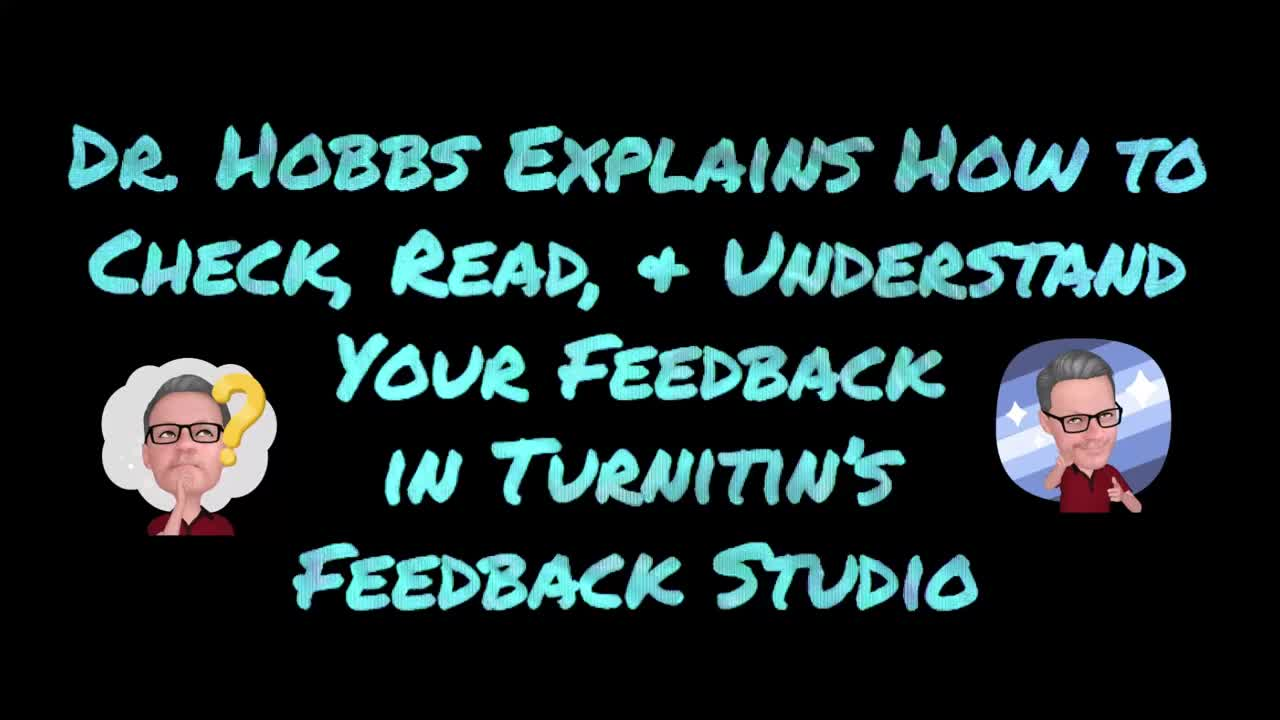 Dr Hobbs's Feedback Studio Explanation and Walk-through [OLD VERSION]