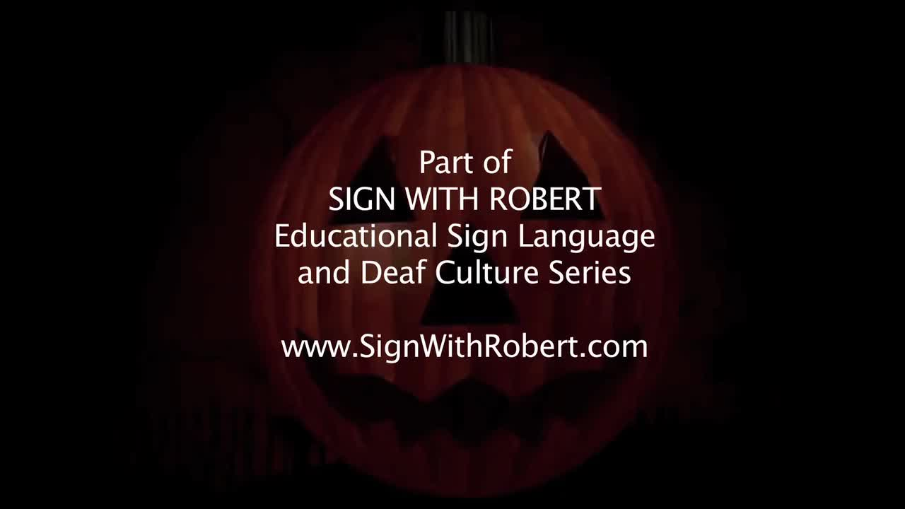 ASL - Halloween Signs in American Sign Language