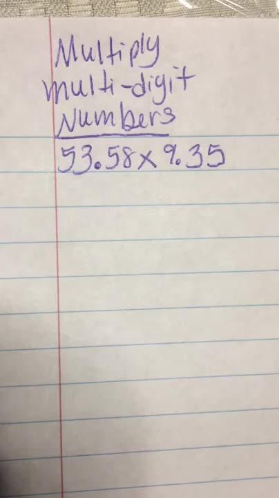 Decimals-Multiply-3 by 3-VIDEO 1