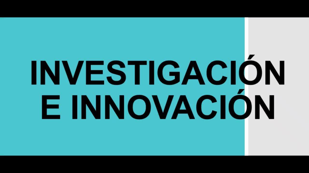1. INVESTIGACIÓN E INNOVACIÓN