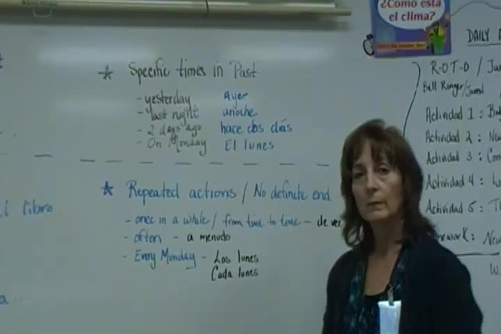 Spanish Past Tense Verb Wall Video