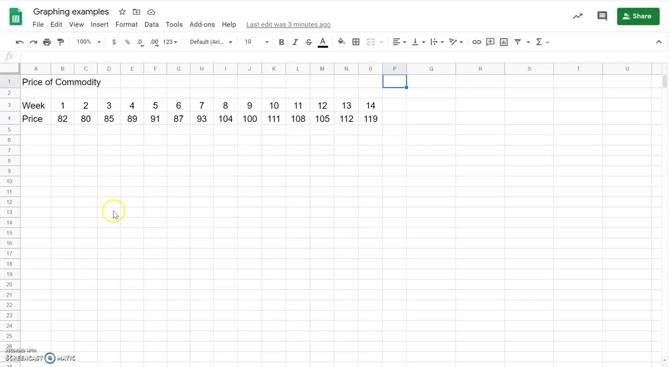 How to create a time series using Google Sheets