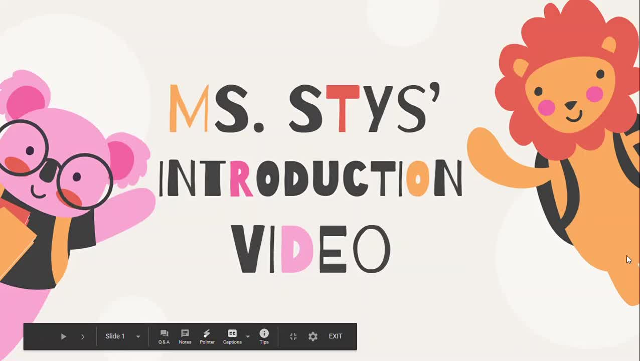 Ms. Stys' Introduction Video