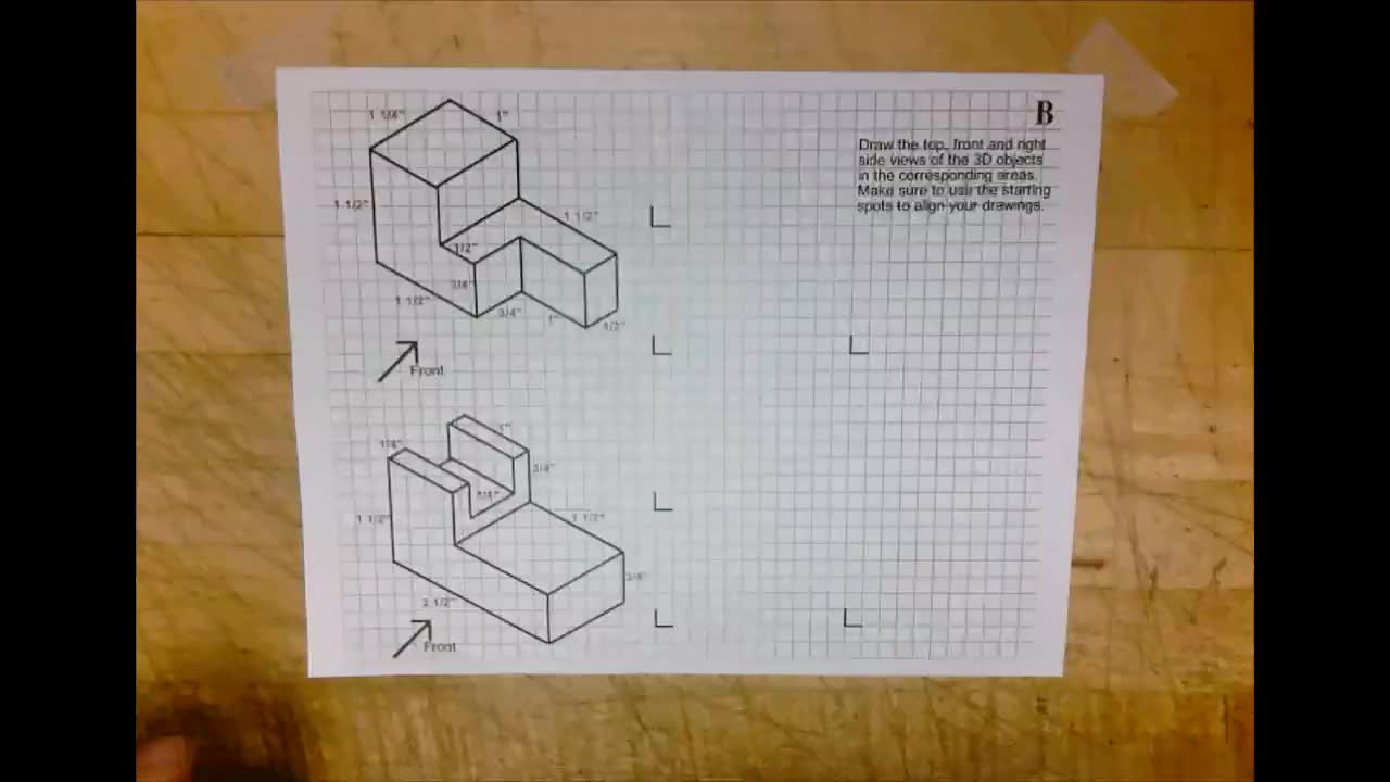 Orthographic Drawing B