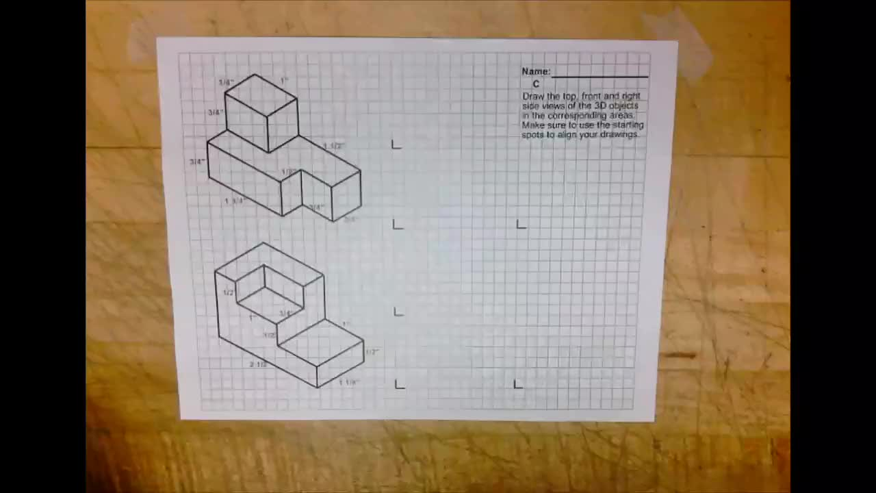 Orthographic Drawing C