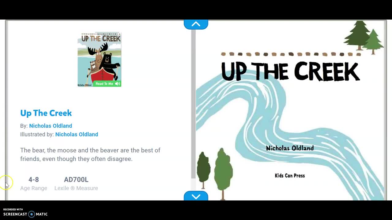 Up the Creek Read Aloud