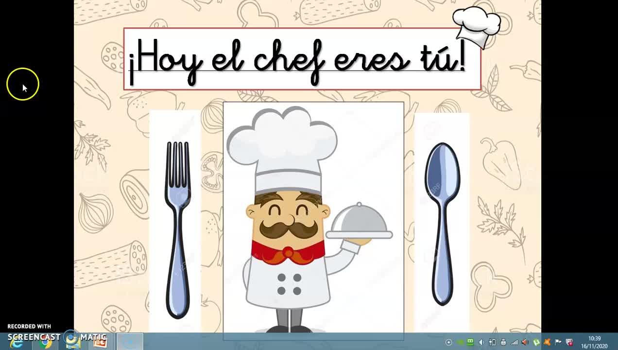 ¡Hoy el chef eres tu!
