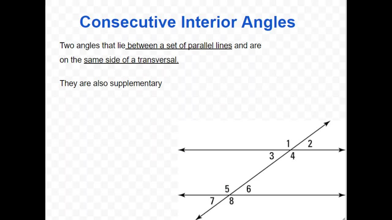 Corresponding Angles Postulate