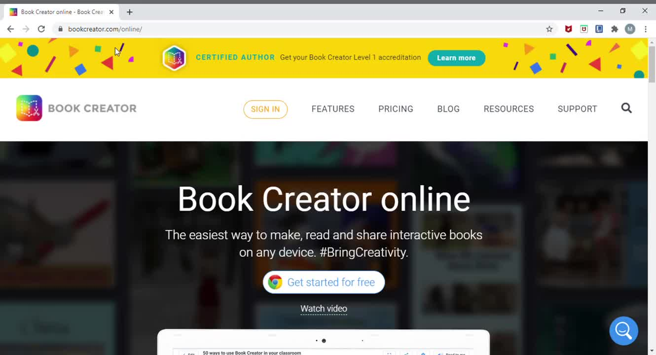 Book Creator Tutorial