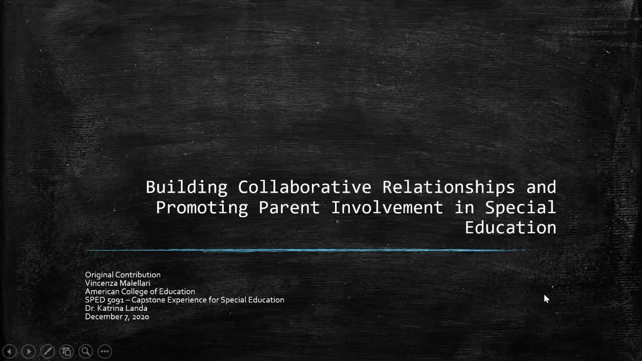 Building Collaborative Relationships and Promoting Parent Involvement in Special Education