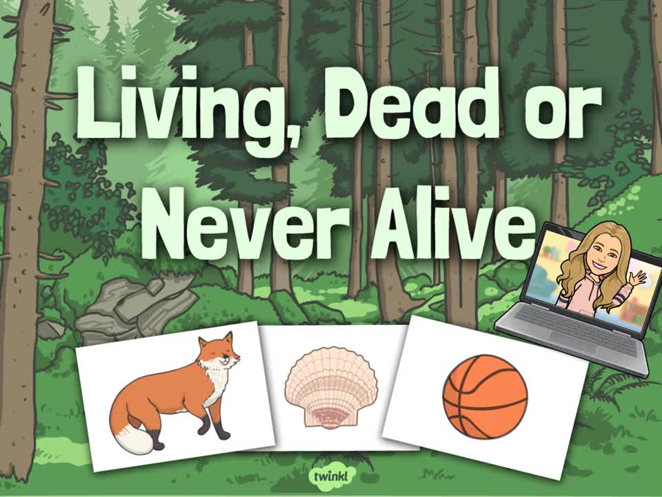 Living Things and Their Habitats Lesson 1- Living, Dead and Never Alive.