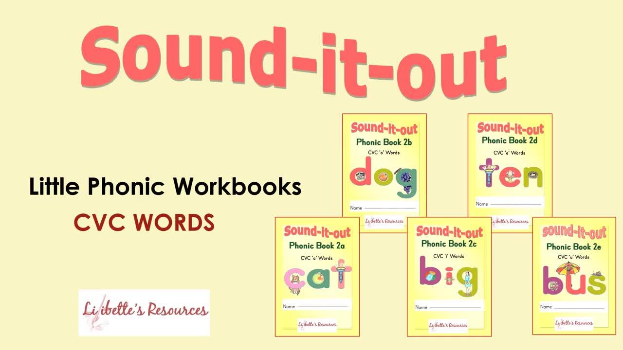 Mini Phonic CVC Word Workbooks