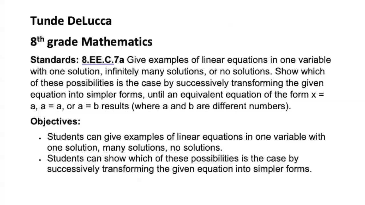 DeLucca - Equation with Many Solutions