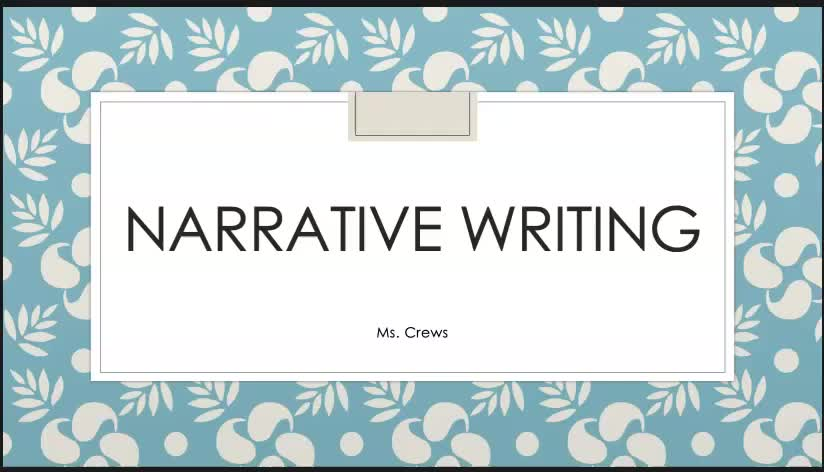Introduction to Narrative Writing Unit