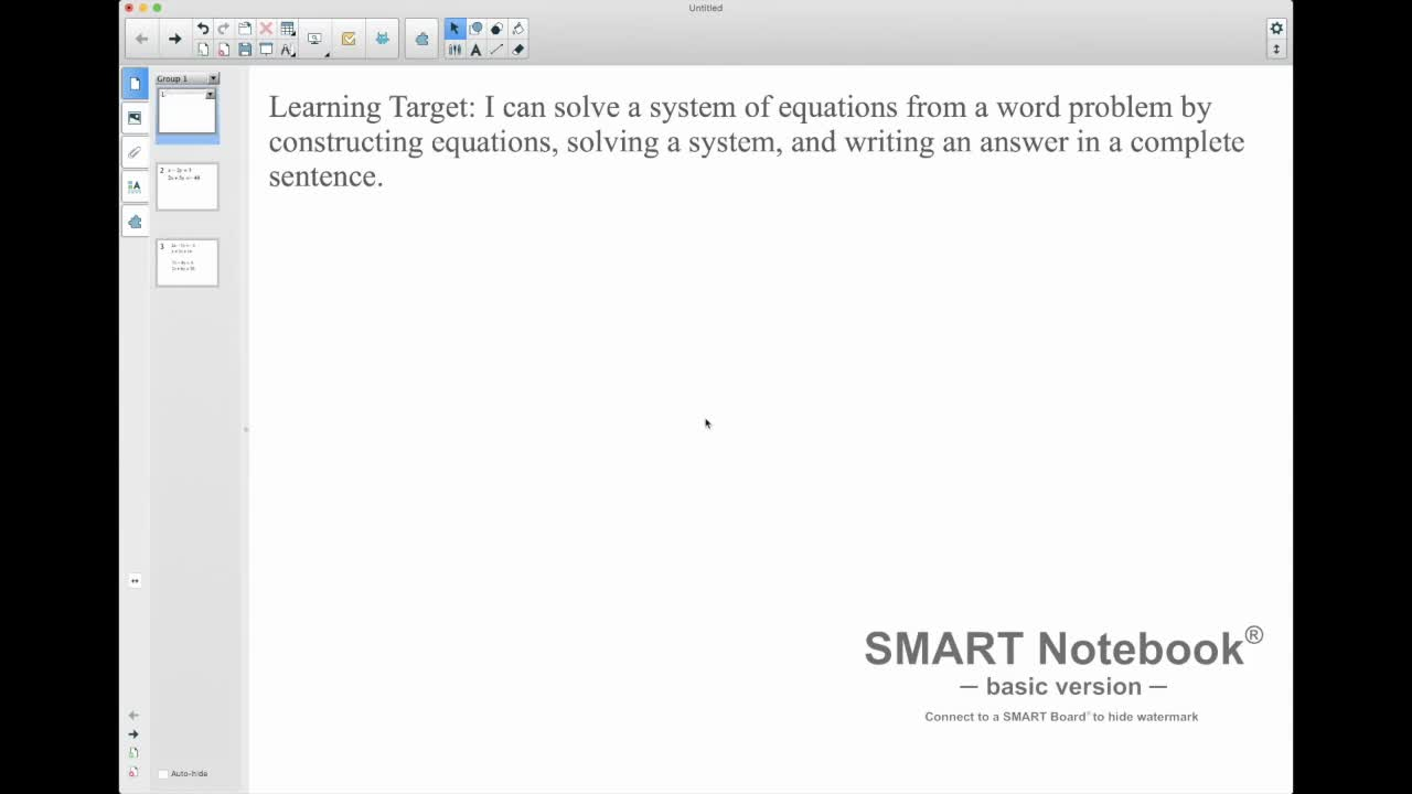 Using Desmos To Find A Solution To A System Of Equations