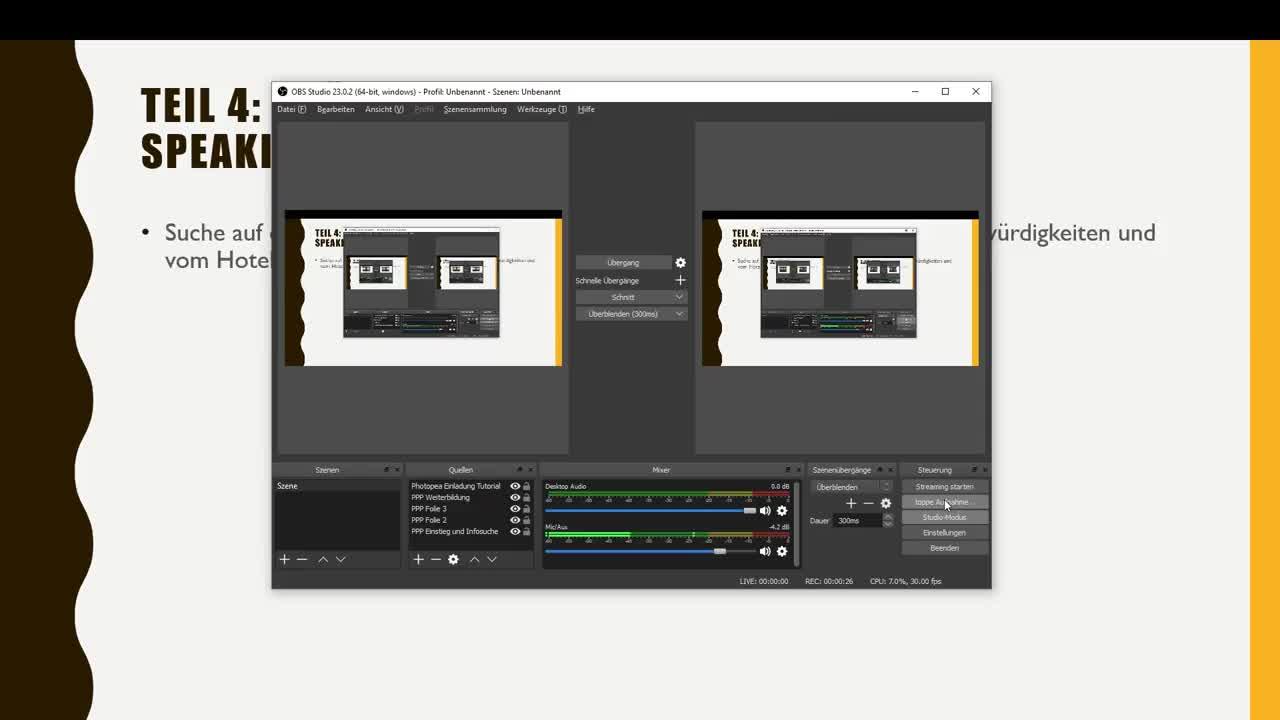 Portfolio Project Travel Agent - Video 4