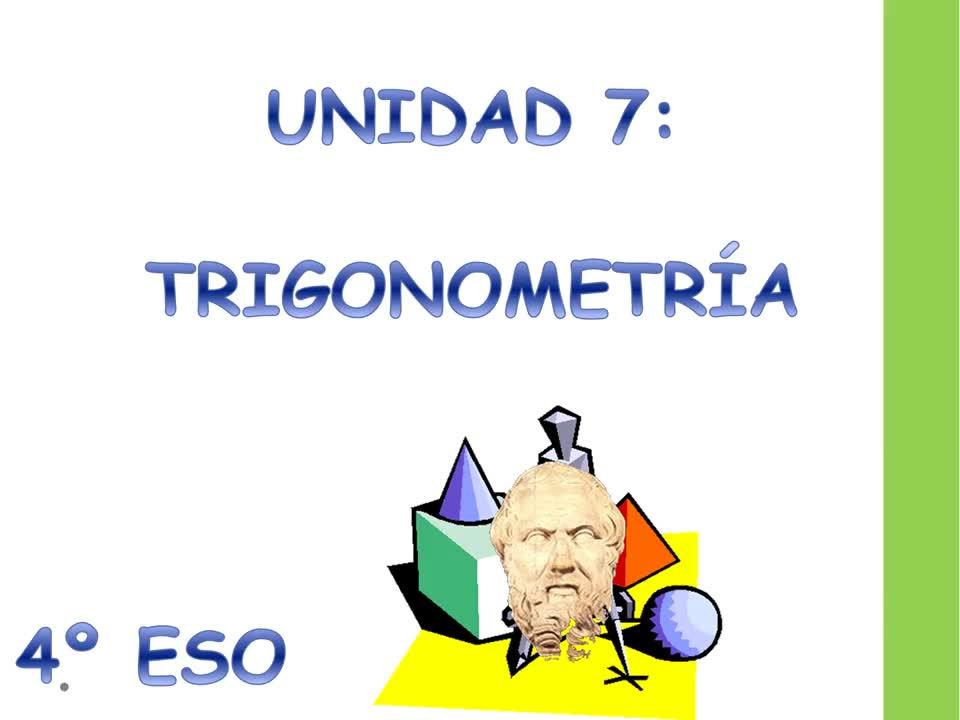 Unit  7 Sesion 1 Trigonometría