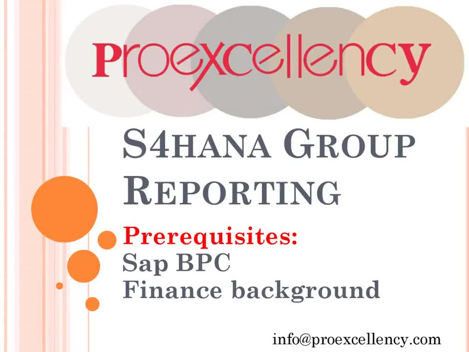 s4 hana group reporting