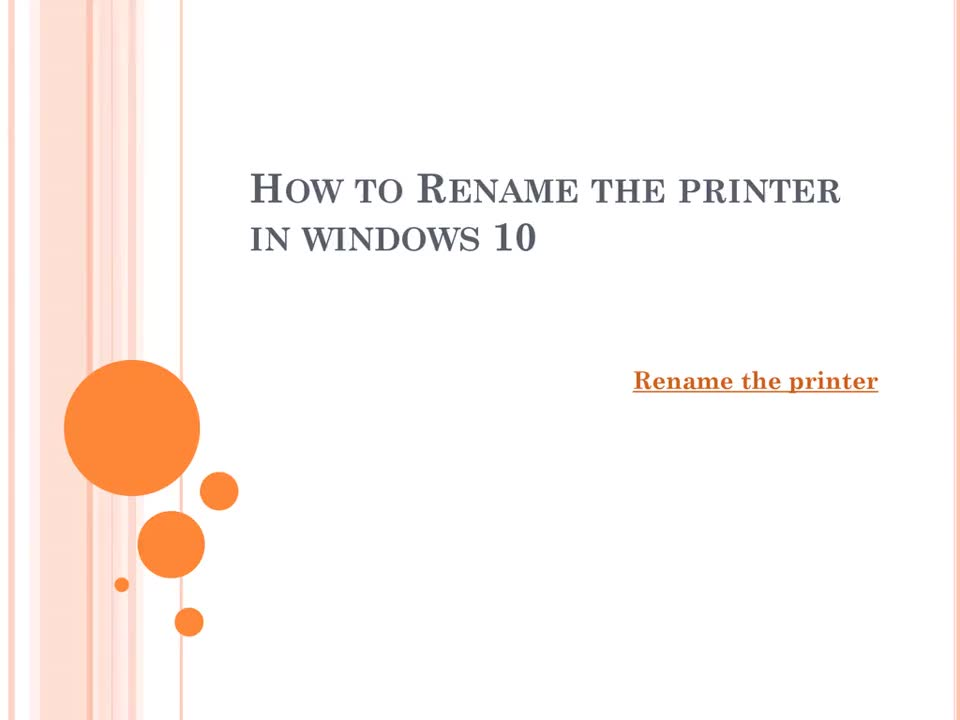 Rename the printer in windows 1