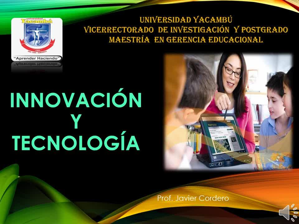 Innovación y Tecnología Javier Cordero
