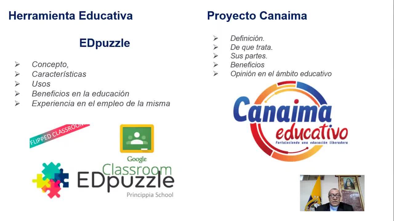 Herramienta Educativa Edpuzzle y Proyecto Educativo Canaima