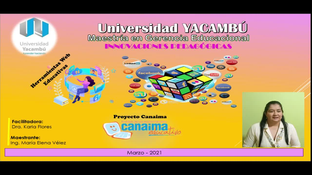 Herramientas Web Educativas  Proyecto Canaima