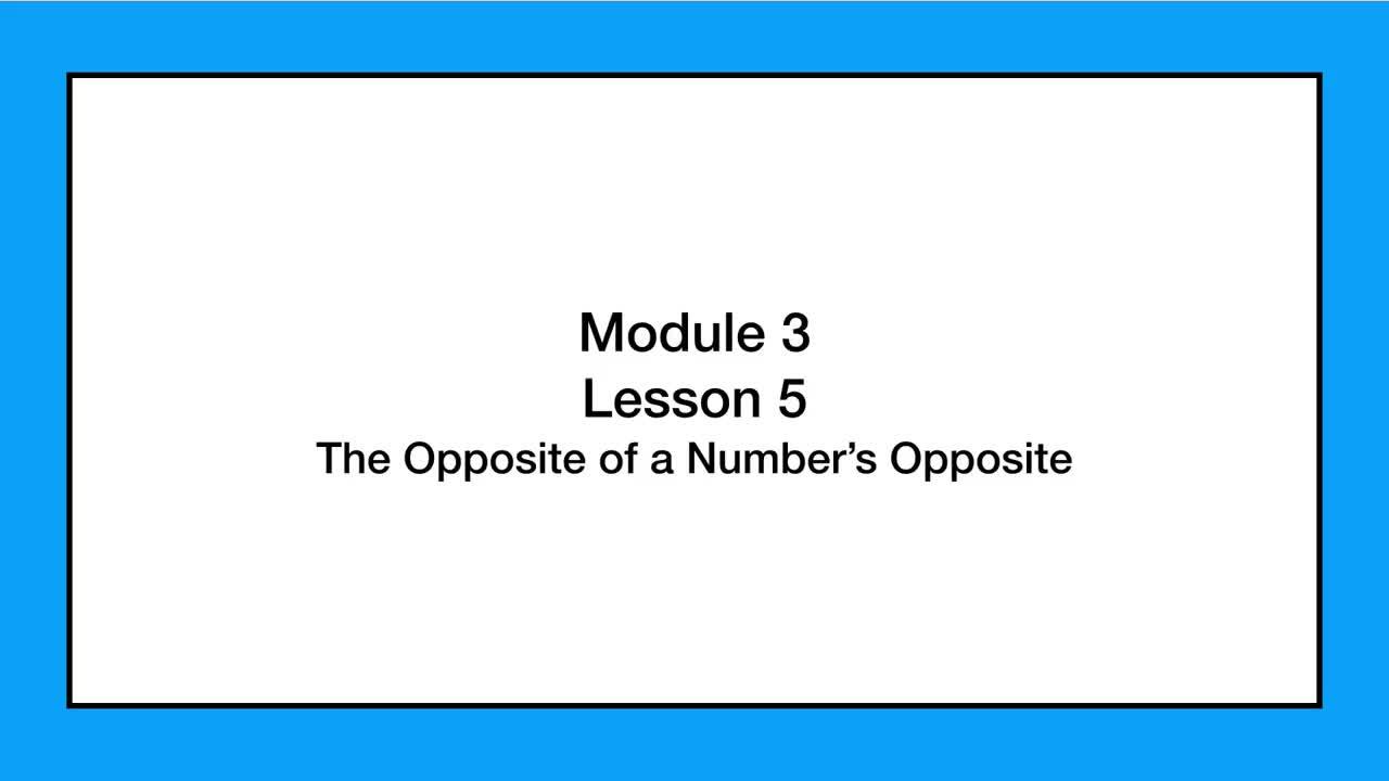 Module 3 Lesson 5 Grade 6