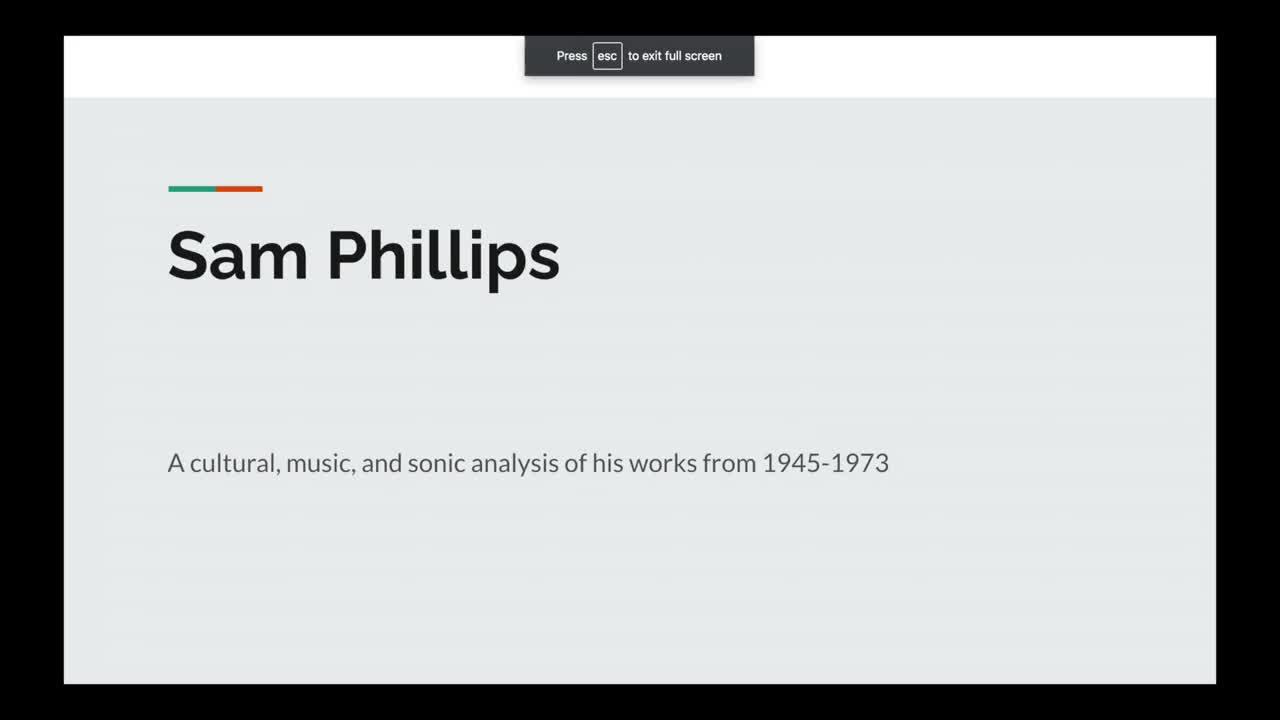 Sam Phillips Vlog