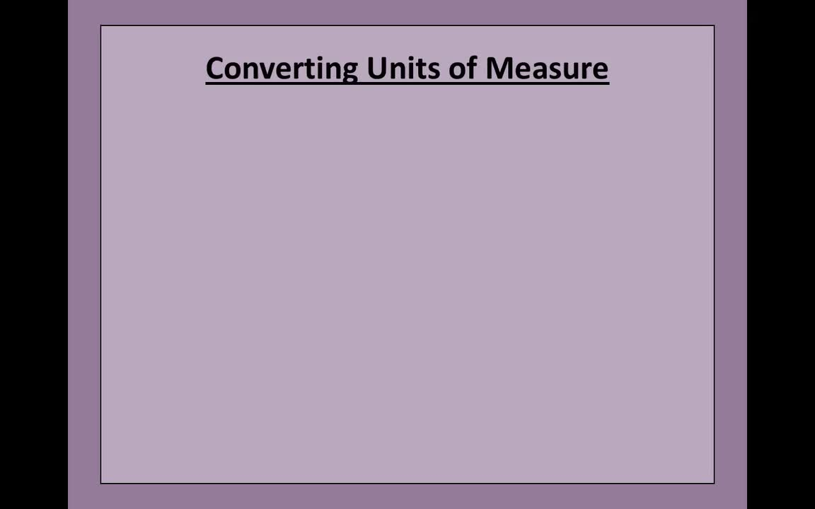 Mr. Lee - Video Tutorial - Converting Units of Measure (1)