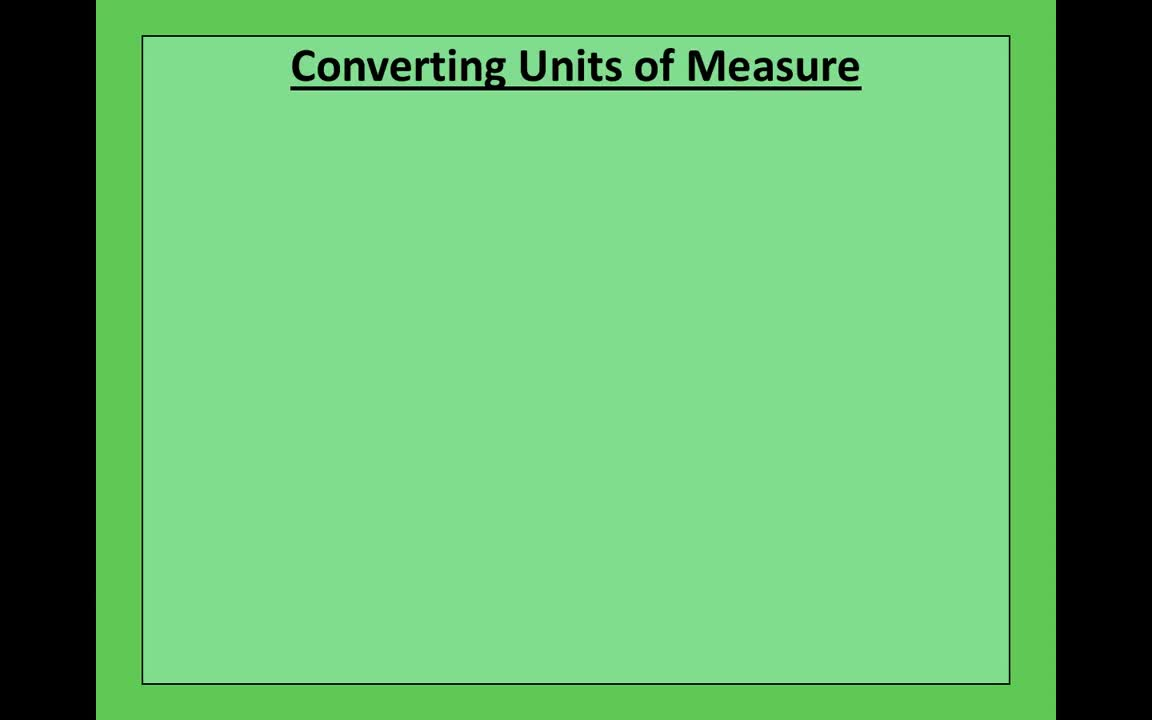 Mr. Lee - Video Tutorial - Converting Units of Measure (2)