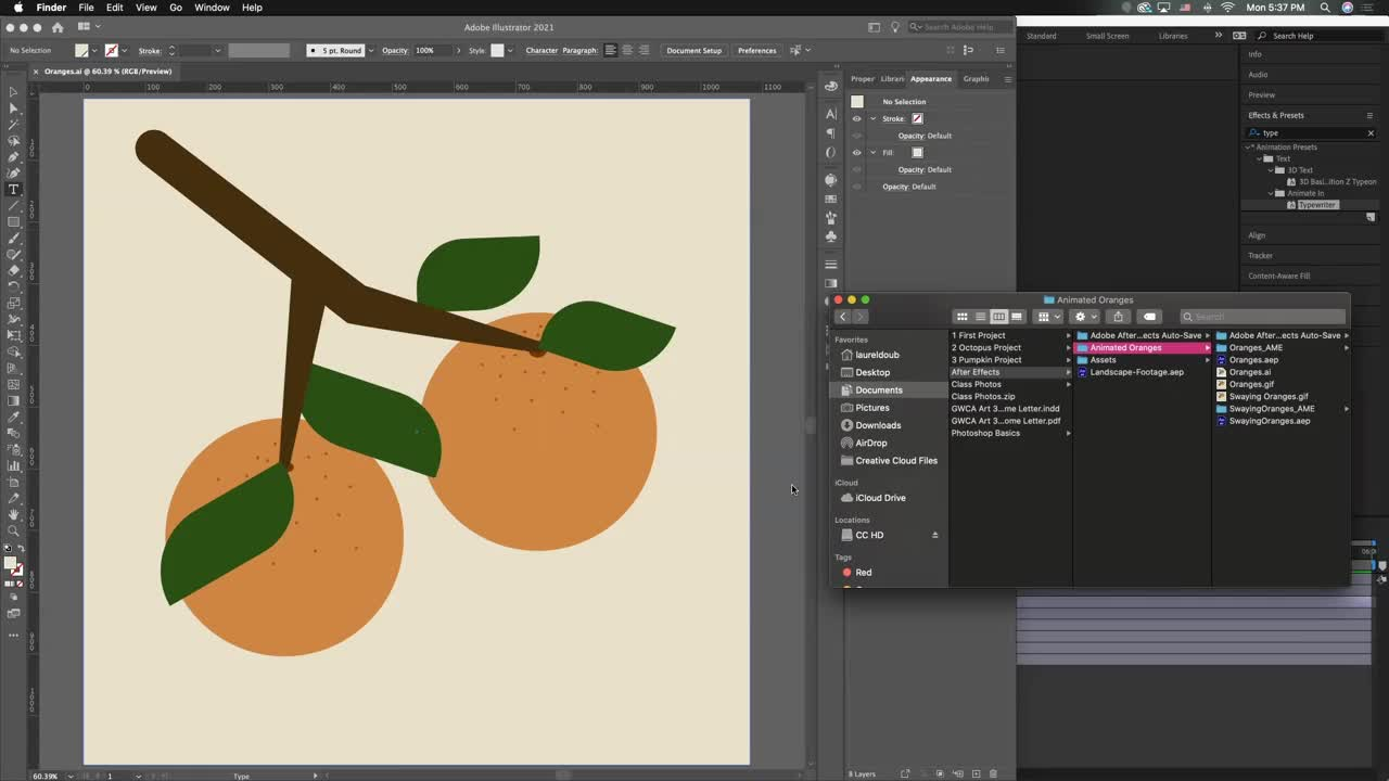 Swaying Oranges | After Effects Tutorial