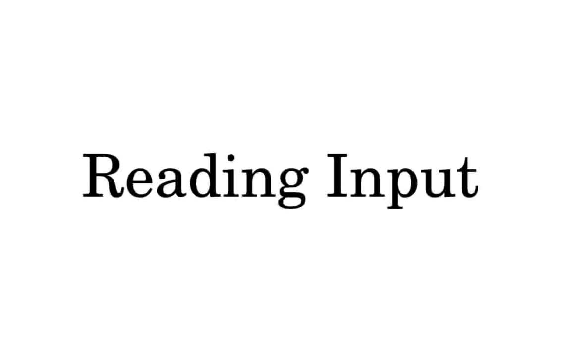 Reading & Processing Data and Text Input