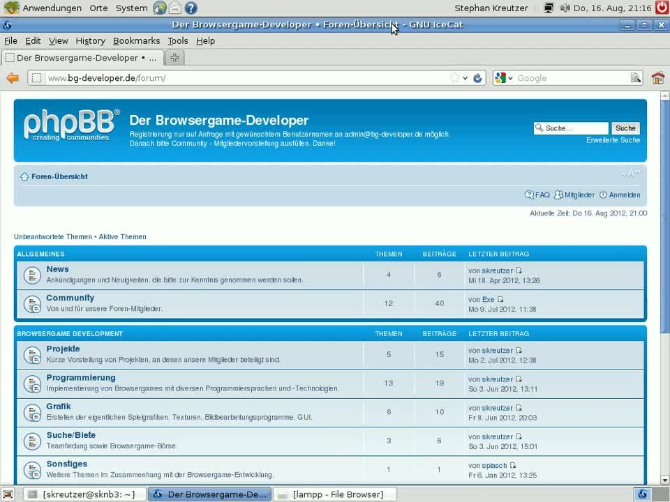 Grundlagen Browsergame-Programmierung: Teil 5 - Einführung PHP