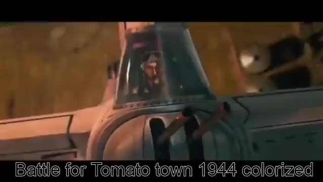 The Battle for Tomato Town Rare Footage (1944 Colorized)