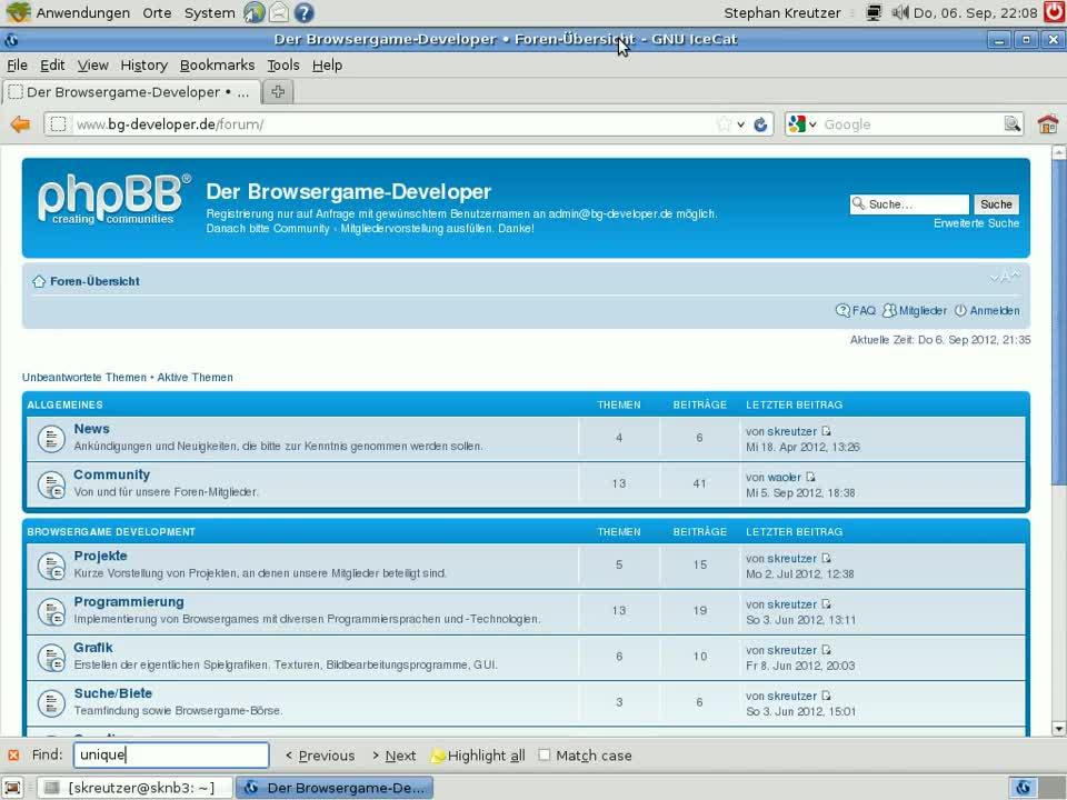 Grundlagen Browsergame-Programmierung: Teil 7 - Datenbankinteraktion mit MySQL