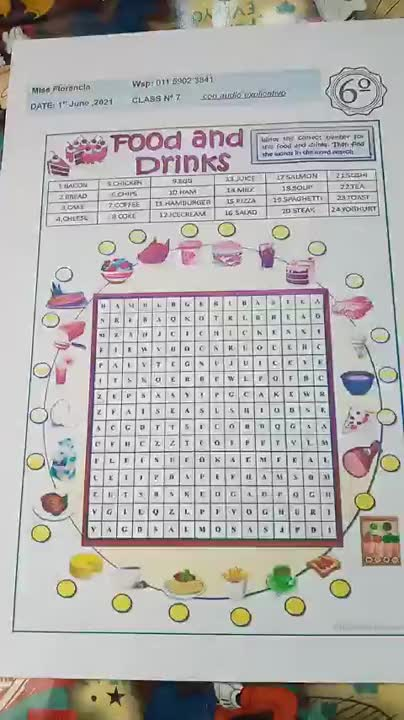 Food & Drinks Vocabulary